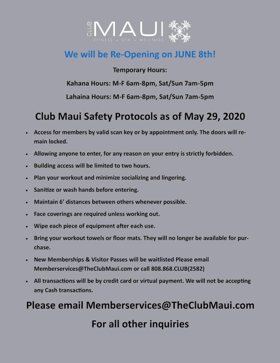COVID-19 Updates 5/31/20